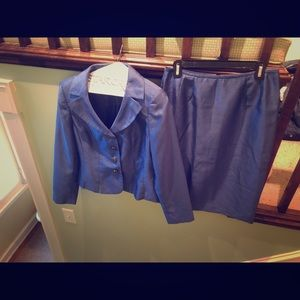 Periwinkle Suit Studio Skirt Suit Size 6